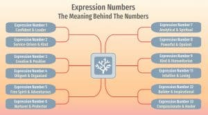 expression number infographic