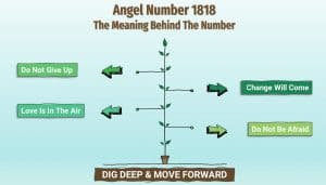 Angel Number 1818 - Infographic