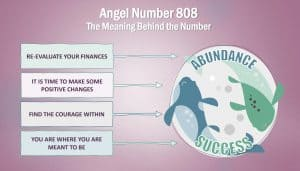 angel number 808 - infographic