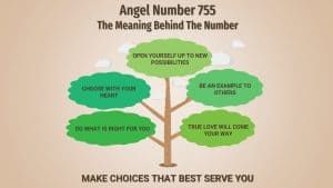angel number 755 infographic